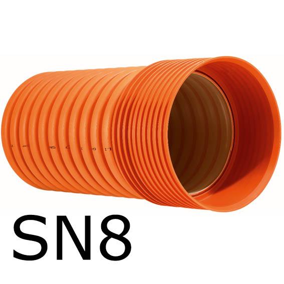 Tubo Corrugado SN8 Saneamento Exterior Edificios